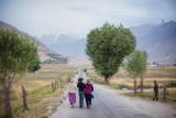 Three women walking - Ishkashim