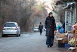 Woman buying bread - Bishkek