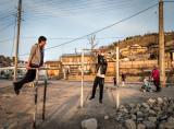 Boys exercising - Dushanbe