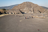 Child in front of Pyramid of the Moon
