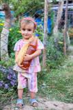Young girl selling honey - Tavildara