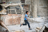 Running Afghan boy - Evaz