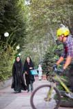 Pedestrians and cyclist - Tehran
