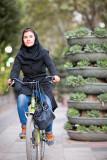 Female cyclist - Tehran