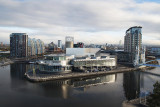 The Lowry Art Gallery and Shopping Mall from the Imperial War Museum North
