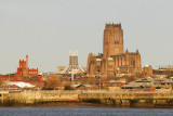 Cathedrals from the Mersey Ferry