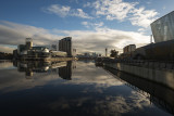 Towards the Quays from Media City footbridge
