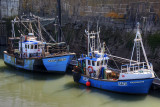 Fishing boats in Porthcawl harbour