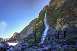 Waterfall at Tresaith beach