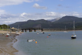 Barmouth harbour and railway viaduct