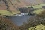 Looking down on Tal y Llyn lake