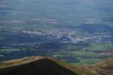 Brecon town from Pen y Fan