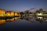 Salthouse Dock at night