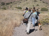 Visual Anthropology class hiking in Organ Mountains