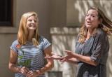 Hannah Earle receives praise from Museum Curator Anna Marie Strankman