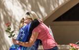 Morgan Kilday gets a hug