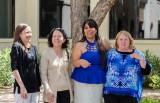Drs. Scott, Stanford, and Chaiken with BA recipient Dulce Escobar