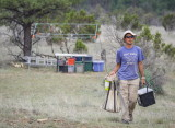 End of the day at the site - Dr. Fumi Arakawa