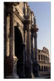 L' Arco di Costantino e il colosseo