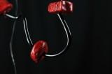 collana pietra rossa