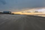 Strand tijdens storm