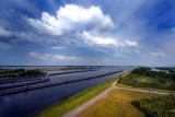 Land, sky, water