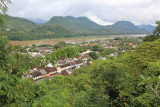 The Mekong side og the old town seen from Phou Si