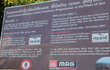UXO-info at site 1, the most accessible of the sites just outside Phonsavan