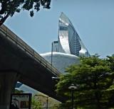 Futuristic building near Sukumvit Road
