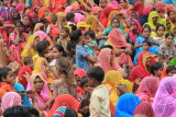 Colorful crowd