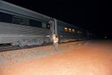 Leaving the Ghan at Manguri