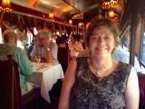 Denise Enjoying Dinner on the Tram