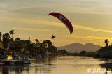 Powered Paragliding into Sunset  1