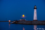 Super Full Moon over Discovery Bay Lighthouse  10