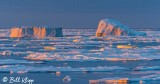 Sunset Icebergs,  Davis Straits