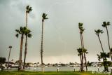 Storm over Discovery Bay Marina  1