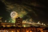 Fireworks over the San Francisco Bay Bridge  2