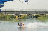 Barefoot Waterskiing Behind a Helicopter  6