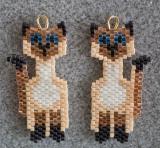 Siamese Cat Earrings - Sold