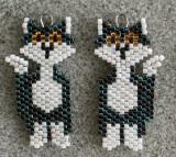 Alley Cat Earrings - sold