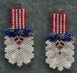 Uncle Sam 4th of July earrings
