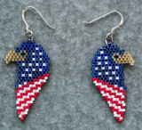 4th of July Eagle Earrings - sold