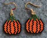 Fall Pumpkin Earrings (Sold)