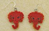 Elephant, Republican earrings - Sold