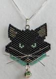 Black Cat Aqua Collar - Sold