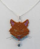 Cat Orange-brown Blue Collar - Sold
