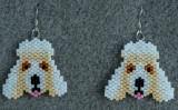 Dog Earrings - Poodle - Sold