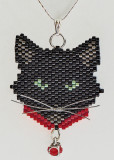 Cat with Red Collar - Sold