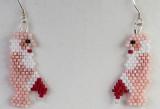 Naked Santa Earrings - Sold