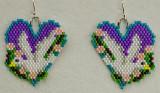 Bird: Dove Heart Earrings - sold